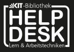 Helpdesk Lern- und Arbeitstechniken